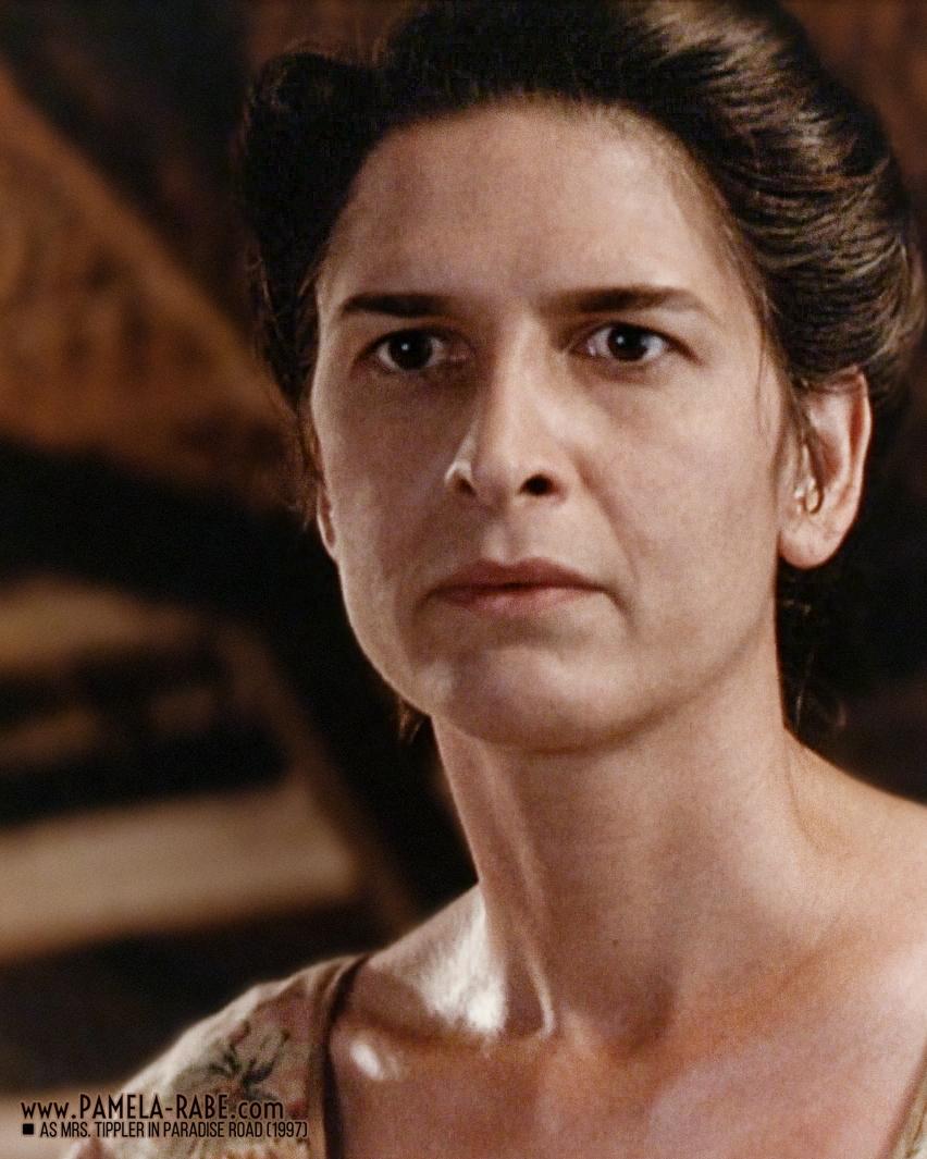Pamela Rabe as Mrs Tippler in Paradise Road