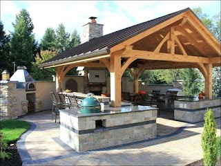 Outdoor Kitchen Structures Covered Ideas Grills Covered