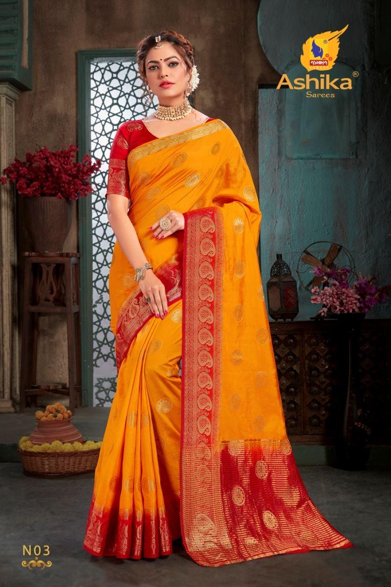 Gold Colour Silk Saree