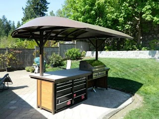 Outdoor Kitchen Roof Ideas Small with Of