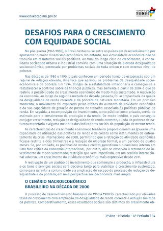 BRASIL: DESAFIOS PARA O CRESCIMENTO COM EQUIDADE SOCIAL
