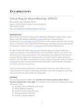 Virtual Regular Board Meeting  - See attached Flyer