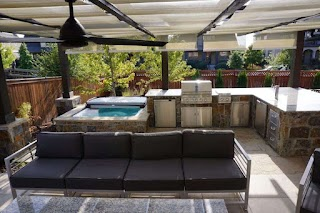 Outdoor Kitchen Denver Pergola and Stone Patio Roof Decks Pergolas And