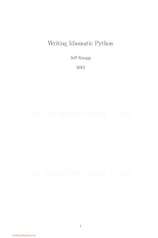 Writing Idiomatic Python.pdf