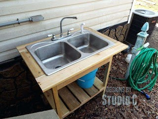 Outdoor Kitchen Sink Plumbing Outside Angle Rv
