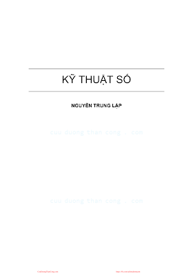 Kỹ Thuật Số - Nguyễn Trung Lập, 164 Trang.pdf