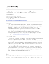Legislation and Intergovernmental Relations Committee