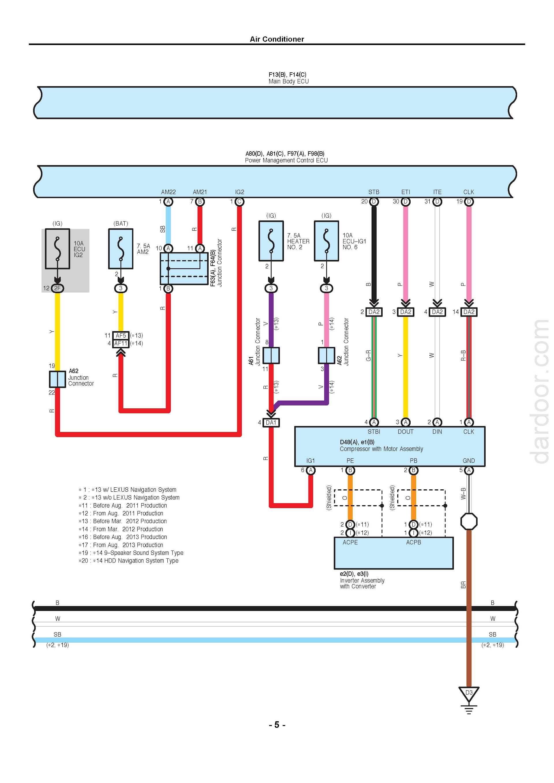 Download 2012-2015 Lexus RX450h Hybrid Wiring Diagrams.