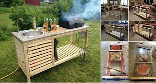 Homemade Outdoor Kitchen Wonderful DIY Perfect Portable