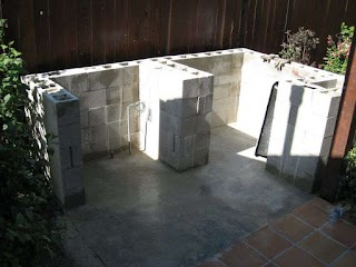Diy Outdoor Kitchen Cinder Block S Made With
