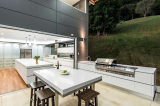 Contemporary Outdoor Kitchen Beautiful Ideas for Summer Freshomecom