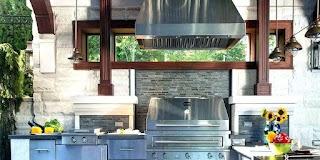 Outdoor Kitchen Exhaust Hoods Wall Mount Vent Hood Grill Duebrigantiinfo