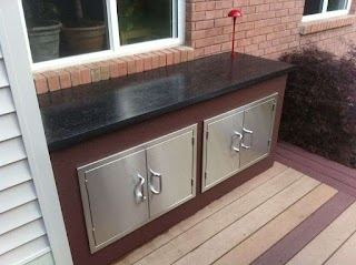 Outdoor Kitchen Concrete Countertops with 8 Steps with Pictures