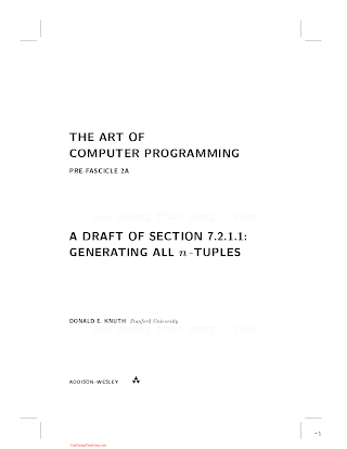 0201853930 {C286C236} The Art of Computer Programming (vol. 4_ Generating All Tuples and Permutations) (fascicle 2) [Knuth 2005-02-24].pdf