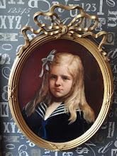 "Tablou vechi ""Portret de fata"""