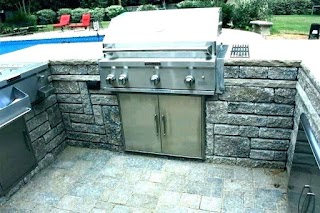 Outdoor Kitchen Grills Reviews Aid Gas Grill Aid 5 Burner Two
