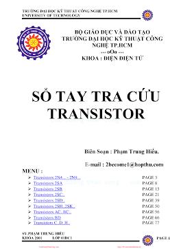 ĐHCN.Sổ Tay Tra Cứu Transistor - Phạm Trung Hiếu, 79 Trang.pdf