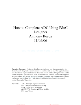How to Complete ADC Using PSoC_How to Complete ADC Using PSoC .pdf