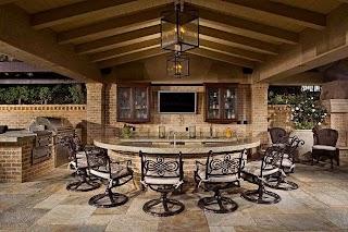 Outdoor Kitchen with Bar Luxury Backyard Space Patio Backyard