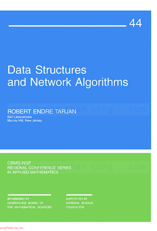 0898711878 {E1F13F3C} Data Structures and Network Algorithms [Tarjan 1987-01-01].pdf