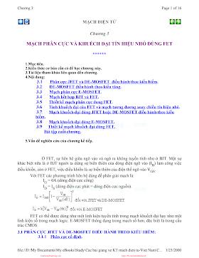 Mach Dien Tu Tuong Tu_3___Mach_phan_cuc_va_khuyech_dai_tin_hieu_nho_dung_FET.pdf