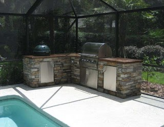 Outdoor Kitchen with Charcoal Grill Terrific Designs Houzz Big Green Egg