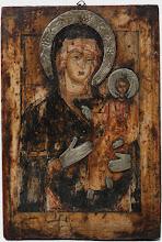 """Icoana """"Maica Domnului cu Pruncul"""", sec al XVI-lea, Rusia"""