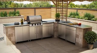 Grand Cafe Outdoor Kitchen Cost Cabinets Kits How to Make An