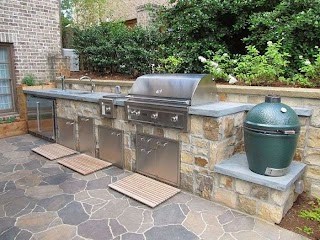 Lynx Outdoor Kitchen a Custom Made with Appliances Refrigerator