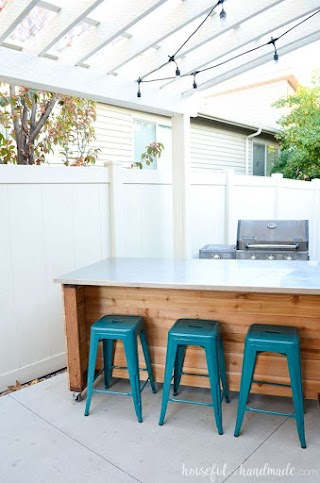 How to Build Outdoor Kitchen Island Plans Houseful of Handmade