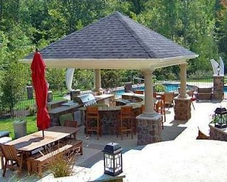 Covered Outdoor Kitchens Plans for an Kitchen