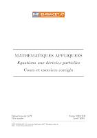 Equations aux dérivées partielles Cours et exercices corrigés.pdf