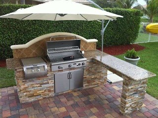 Outdoor Barbecue Kitchen 18 Ideas for Backyards