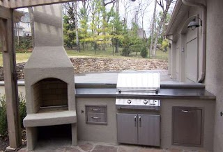 Stucco Outdoor Kitchen Design Lone Star Patio Builders