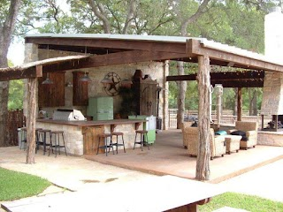 Rustic Outdoor Kitchens and Bars Hgtv