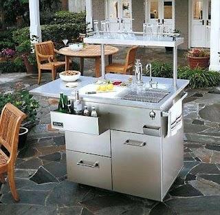Outdoor Portable Kitchen Island Grill S S in Regarding