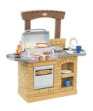 Little Tikes Indoor Outdoor Cook N Grill Kitchen Amazocom Play Bbq Toys Games