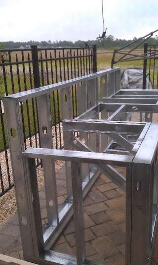Building Outdoor Kitchen with Metal Studs My Parents Build S Baths Contractor Talk