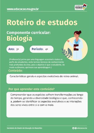 CARACTERÍSTICAS GERAIS E ASPECTOS EVOLUTIVOS - ANIMAIS - AULA 20