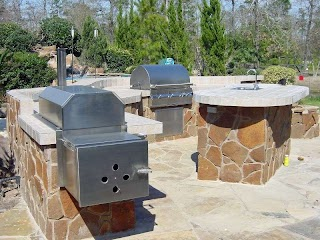 Outdoor Kitchen Smoker Plans Ovens Homescapes Houston Pizza Oven Building an Patio