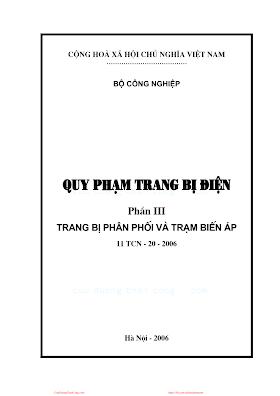 Quy Phạm Trang Bị Điện 3 - Trang Bị Phân Phối Và Trạm Biến Áp.pdf