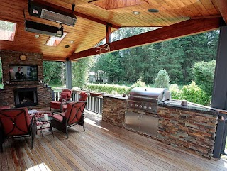 Outdoor Kitchen Fireplace S S Fire Pits Living Area