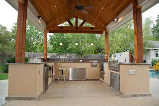 Houzz Outdoor Kitchen and Patio Cover in Katy Tx Traditional Patio