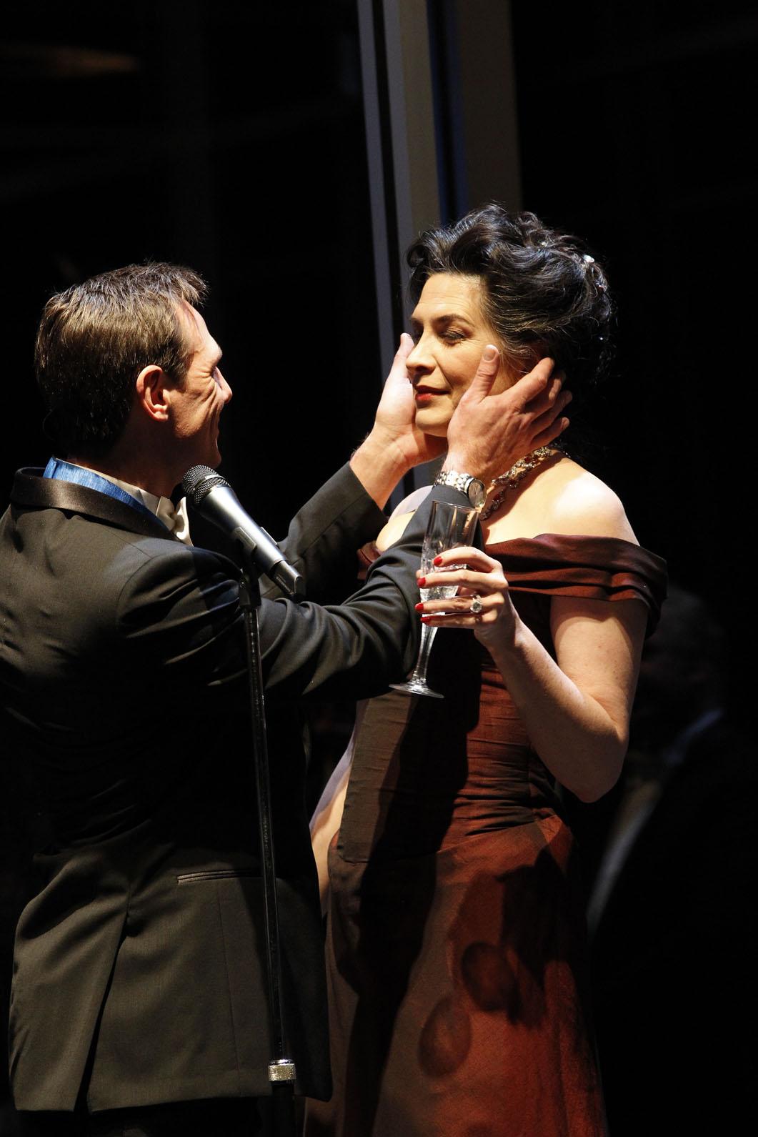 Pamela Rabe in Hamlet | Photo by Jeff Busby | MTC