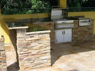 Home Depot Outdoor Kitchen Cabinets Bbq Island Frame Kits Stainless Roll Up
