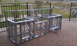 Metal Framing for Outdoor Kitchen Pin By Janelle Peterson on Deck Build Diy