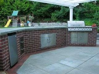 Brick Outdoor Kitchen Island