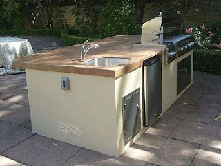 Outdoor Kitchen Plumbing for an Sink