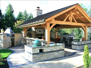 Outdoor Kitchen Small Space Ideas Backyard Built Images Winsome Sma