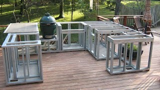 Outdoor Kitchen on a Deck Plnning New in Ct